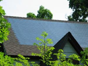 Solar Power Shingle roof-top installation