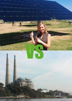 Solar Power Versus Power plants